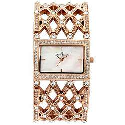 Anne Klein Womens Crystal Goldtone Bangle Watch  Overstock