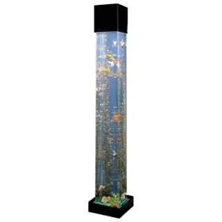 Square Aqua 30 Gallon Tower Aquarium Fish