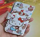 Hello Kitty Leather Flip Skin Case Cover For Apple ipod Touch 4 4TH