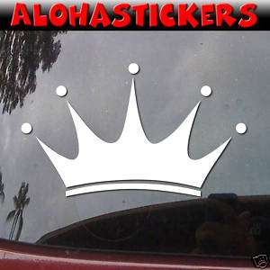 PRINCESS CROWN Vinyl Decal Car Truck Window Sticker G33