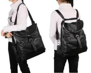 Ladies Girls Real LEATHER SHOULDER BAG BackPack travel