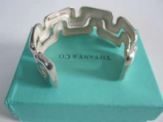 RARE Tiffany & Co. Sterling Silver Puzzle Wide Cuff Bracelet