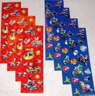 of SUPER MARIO KART STICKERS ~ Nintendo Wii Birthday Party Supplies