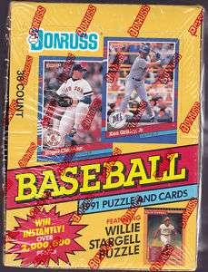 1991 Donruss BASEBALL Series 1 Puzzle & Cards Box