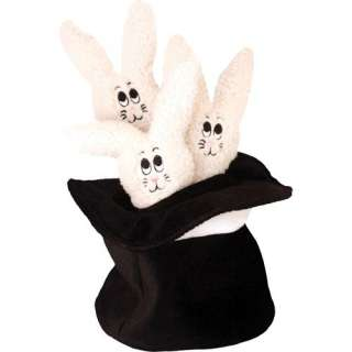 Loopies Medium Bunny Hat Interactive Dog Toy in Black/White Dogs