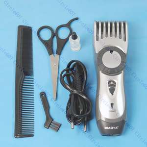 Rechargeable Beard Hair Trimmer Clippers + Scissor Comb