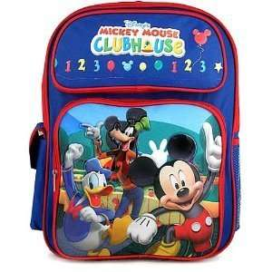 Disney Mickey Mouse Goofy Friends CLUBHOUSE Large Backpack