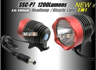Mountain Bike Bicycle Cycle Head Lights/Head Lamp + Rear Light