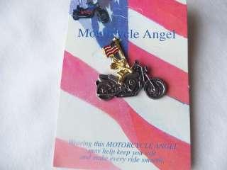 Guardian Angel Biker Motorcycle Jacket Coat Pin Brooch