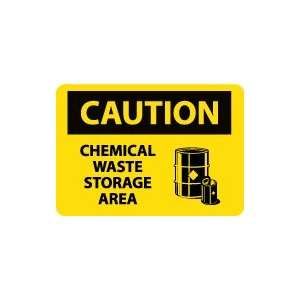 OSHA CAUTION Chemical Waste Storage Area Safety Sign