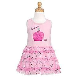 Bonnie Jean Girls Sequined Pink Birthday Dress