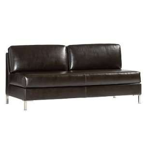 : west elm Leather Armless Sectional, Sofa, Chocolate: Home & Kitchen