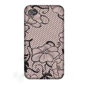 Triple C Designs Lace Romance Pink Glam 4g iPhone 4 Case