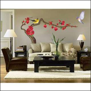 JAPANESE APRICOT TREE BIRD WALL WINDOW STICKERS CP034