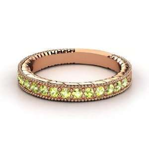Victoria Band, 14K Rose Gold Ring with Peridot Jewelry