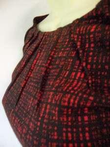 Red/Black Scoop Neck Ponte Knit Career/Cocktail Dress 22W 22