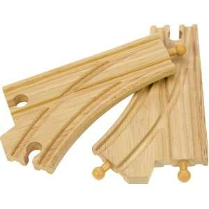Bigjigs Wooden Expansion Train Track (Curved Points) Toys & Games