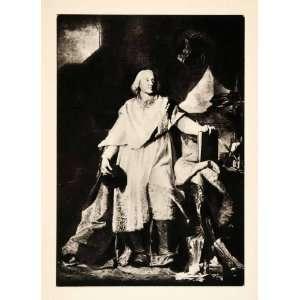1937 Photogravure Portrait Jacques Benigne Boussuet Bishop