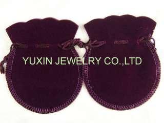 10 pcs Purple Velvet Gift Jewelry Bags Pouches YB06