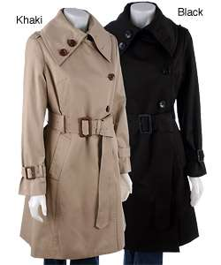 London Fog Womens Belted Raincoat