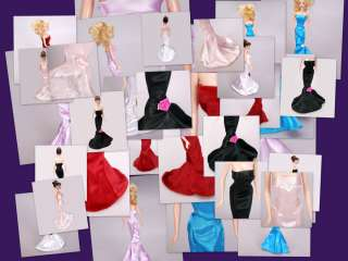Lot Barbie Doll Clothes 15 Dresses 16 Accessories for dolls Free Ship