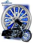 raider chrome front custom motorcycle wheel package str front baggers