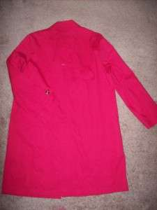 HARVE BENARD RED PINK TRENCH RAIN COAT JACKET 10 NEW.