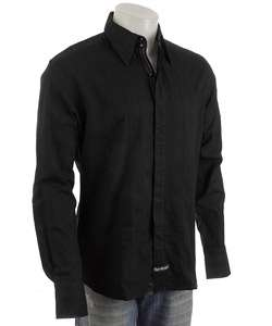 English Laundry Mens Manchester Black Dress Shirt