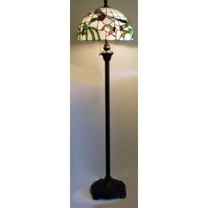 Traditions Artglass Stained Glass Mallard Floor Lamp