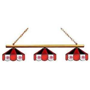 Cincinnati Reds 3pc Swag Glass Billiard/Pool Table Light