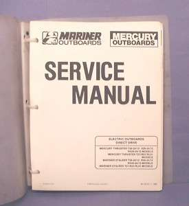 1988 Mercury Mariner Trolling Motor Service Manual
