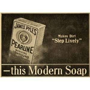 Pearline Washing Compound Soap Box   Original Print Ad: Home & Kitchen