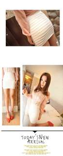 Fashion Womens Lady 8 Candy Colors Casual Stretch Knit Skirt Mini