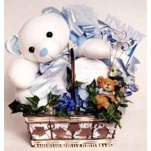 My Night Night Teddy Baby Boy Gift Basket Baby