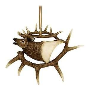 Elk Head In Antlers Ornament: Home & Kitchen