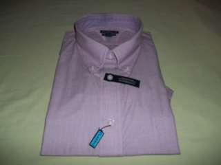 new croft&barrow mens short sleeve dress shirt size M 15 1/2   16