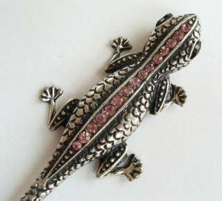COLORS SWAROVSKI CRYSTAL LIZARD GECKO HAIR STICK PIN PICK 556