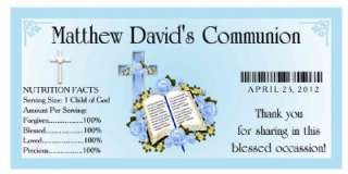 20 1st HOLY COMMUNION PARTY ~ WATER BOTTLE LABELS