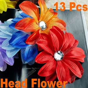 New 13pcs GIRL Baby Girl Lady Crystal Tropical Head Flower Hair Clip