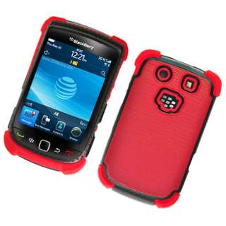 For RIM BlackBerry Torch 9800/9810 Silicone/Hard Dot TPU Case Red