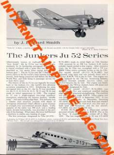 AIRCRAFT PROFILE 177 WW2 LUFTWAFFE JUNKERS Ju.52 *MINT*