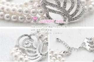 Korea Hot Delicate Rose 4 Layer Pearl Bracelet k11 great gift