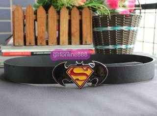 Superman logo fashion Metal Buckle leather Belt BSU17B