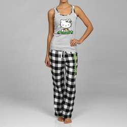 Hello Kitty Womens Plaid Loungewear Set