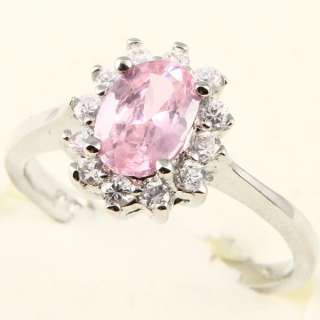8mm OVAL CUT PINK SAPPHIRE *85* COCKTAIL RING