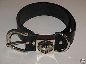 HARLEY DAVIDSON MOTOR CYCLES BELT WITH BUCKLE 28/30