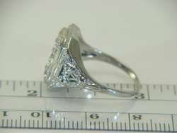 Vintage 10K White Gold Art Deco Old Mine Cut .45ct Diamond Ring