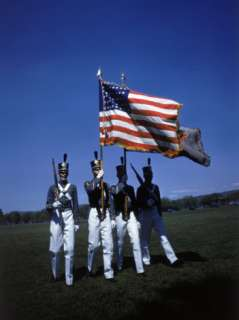 West Point Cadets Carrying US Flag Premium Photographic Print by