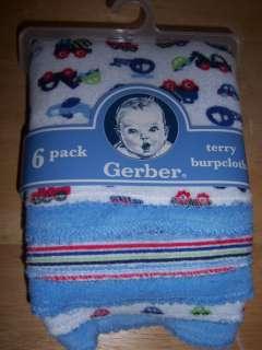 6pk Burp Cloths,, Baby Shower, Diaper Cake, Flower, Car, Frog, Plain