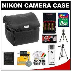 Nikon Coolpix 9691 Fabric Digital Camera Case with (4) AA Batteries